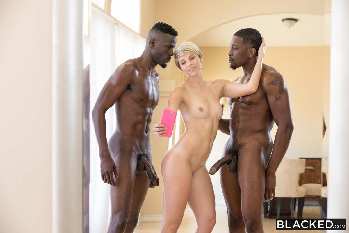 Big Black Cock Blonde Ass
