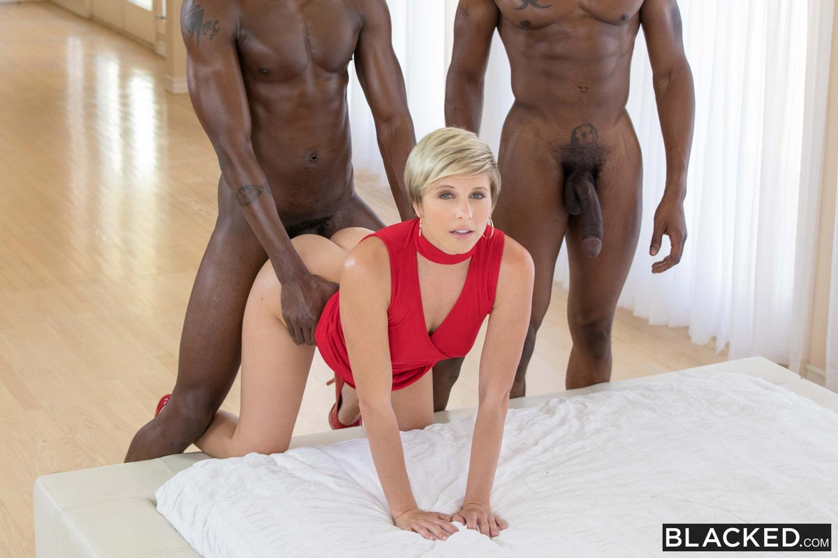 Blonde Interracial Anal Pain