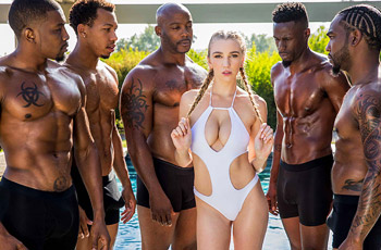 Kendra Sunderland Interracial Gang Bang