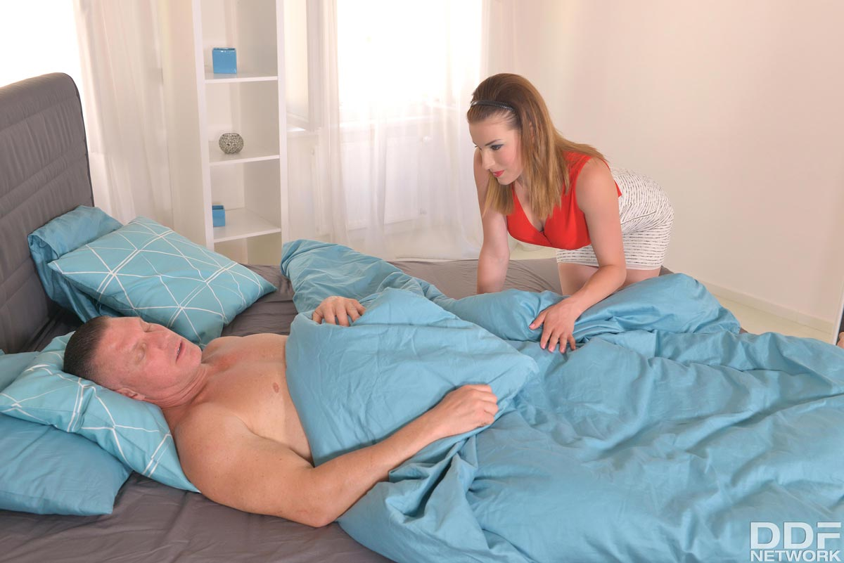 Wife wake up blowjob