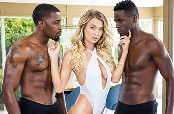 Natalia Starr Interracial Threesome