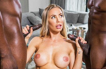 Nicole Aniston Interracial Threesome