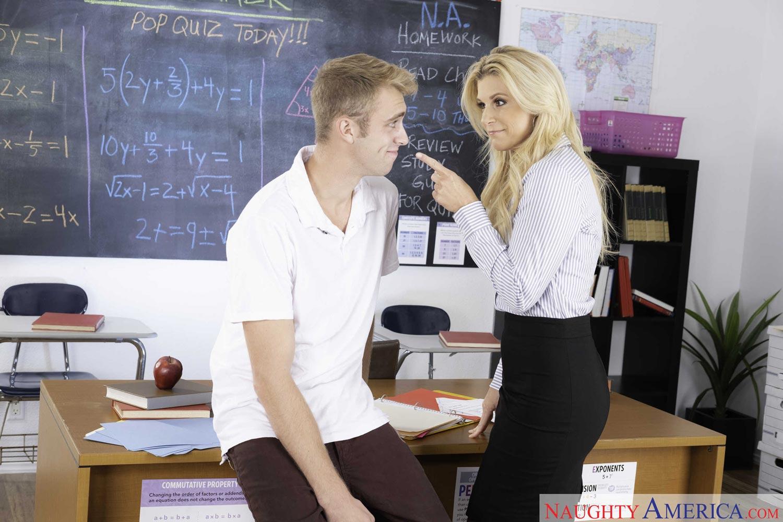Blonde Seduces Teacher Lesbian