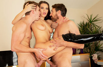 Lana Rhoades Hard Threesome