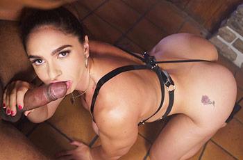 Marta Lacroft Sucks Black Cock