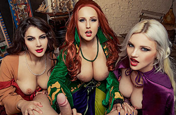 Angel Wicky Witches in Threesome