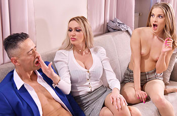 Cayenne Klein Office Threesome
