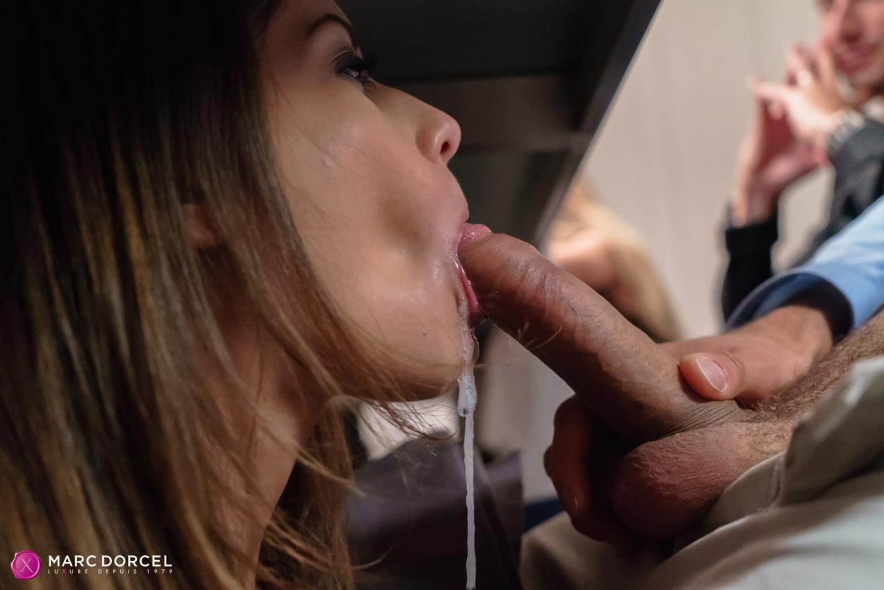 Under The Table Blowjob