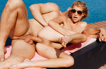 Arya Fae Poolside Sex
