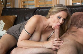 Julia Ann Rides Young Cock