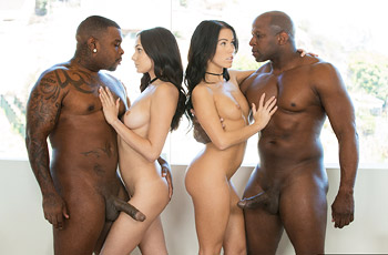 Megan Rain Interracial Orgy