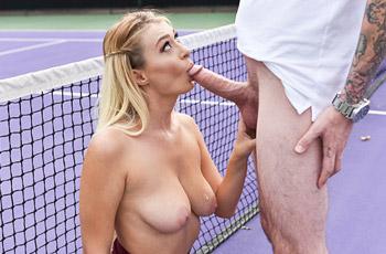 Natalia Starr Tennis Court Action